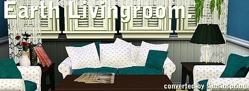 Earth Living Room Conversions by Simsinspring