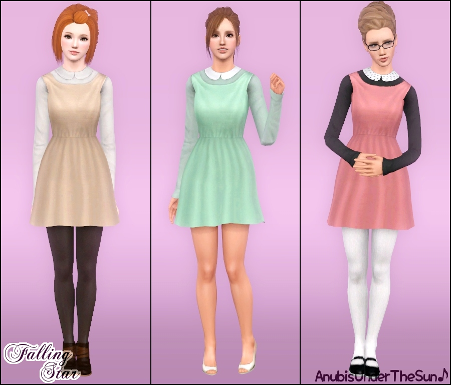 Falling Star ~ Peter Pan Collared Dress for Teen to Adult by Anubis