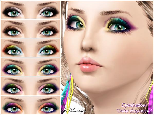 Eyeshadow Color Explosion  by Pralinesims