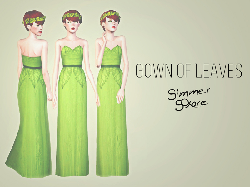 Gown of Leaves by Simmer Store