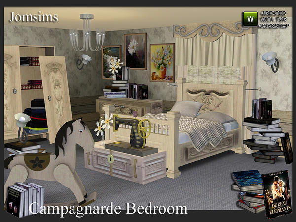 Campagnarde dreams Bedroom ( collection campagnarde suite) by jomsims