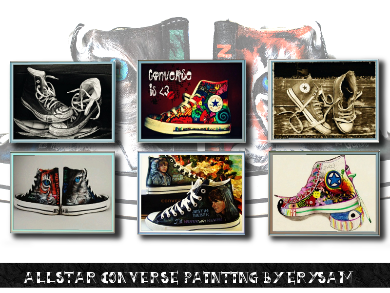 AllStar Converse Painting by Marie Rose