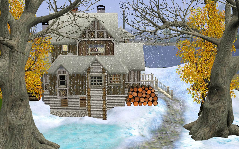 First snow- winter house by Aya20