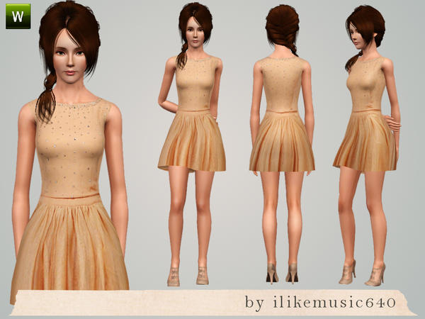 Touch of Sparkle Dress AF by ILikeMusic640