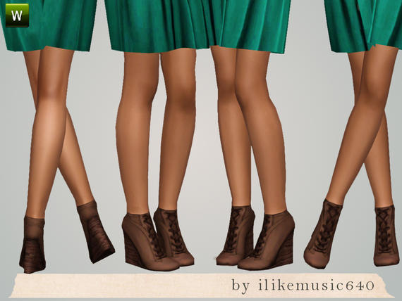 Wedge Lace Up Boots AF by ILikeMusic640