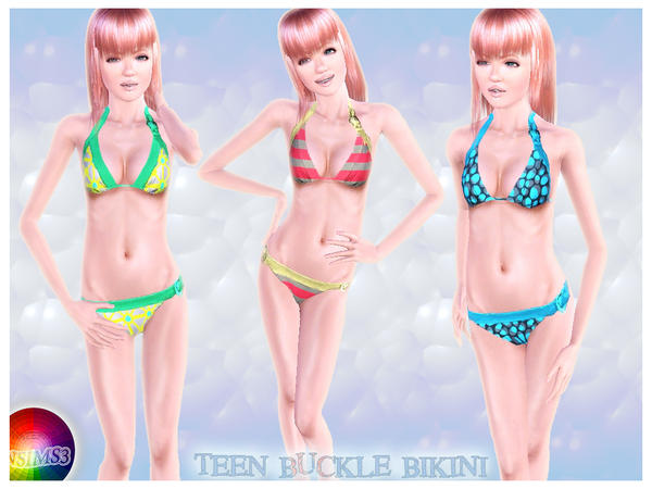 Teen Buckle Bikini  by natef005