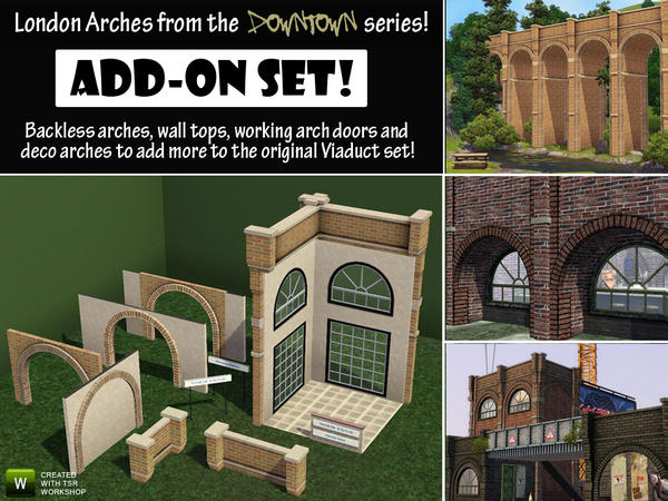 London Arches Set 2 - Add-On by Cyclonesue