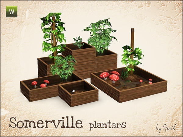 Somerville planters by Gosik