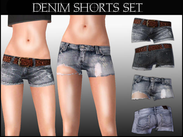 Denim Shorts Set by ShakeProductions