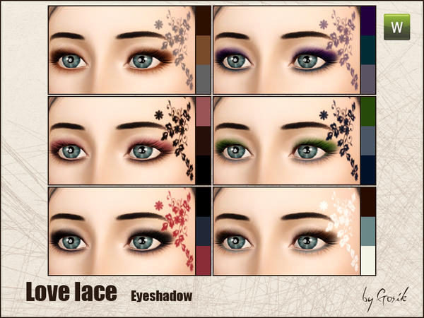 Love lace eyeshadow by Gosik