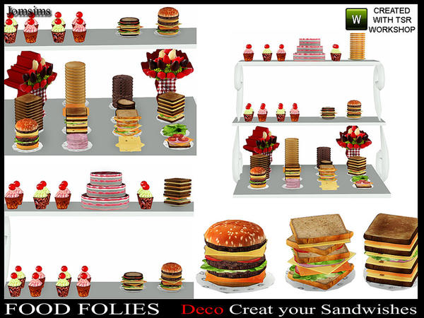 Food folies ( deco Create your sandwishes) by jomsims