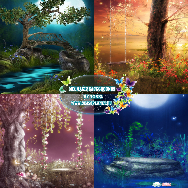 Mix Magic Backgrounds by Torri