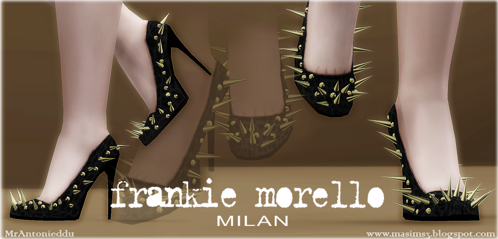 Frankie Morello Spiked Stiletto Shoes by MrAntonieddu