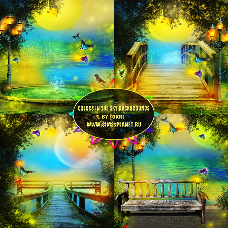 Colors in the Sky backgrounds by Torri