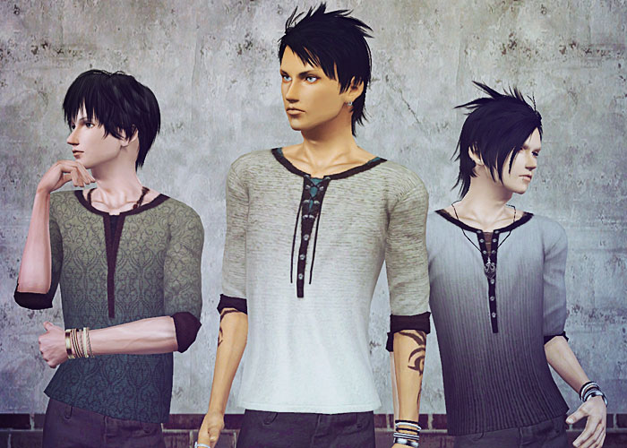 New Tops for Males by Sims3-M029