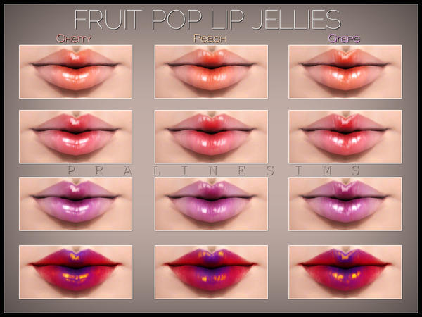 Fruit Pop Lip Jelly Trio by Pralinesims