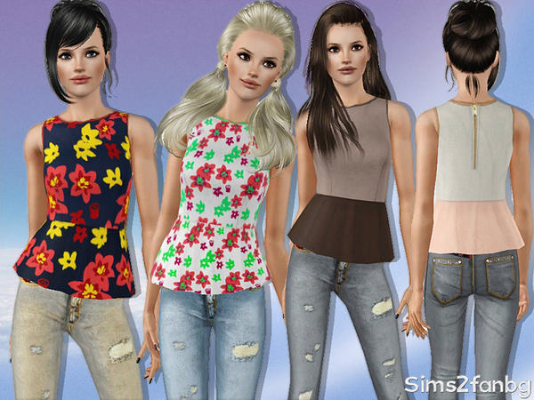 310 - Spring set by sims2fanbg
