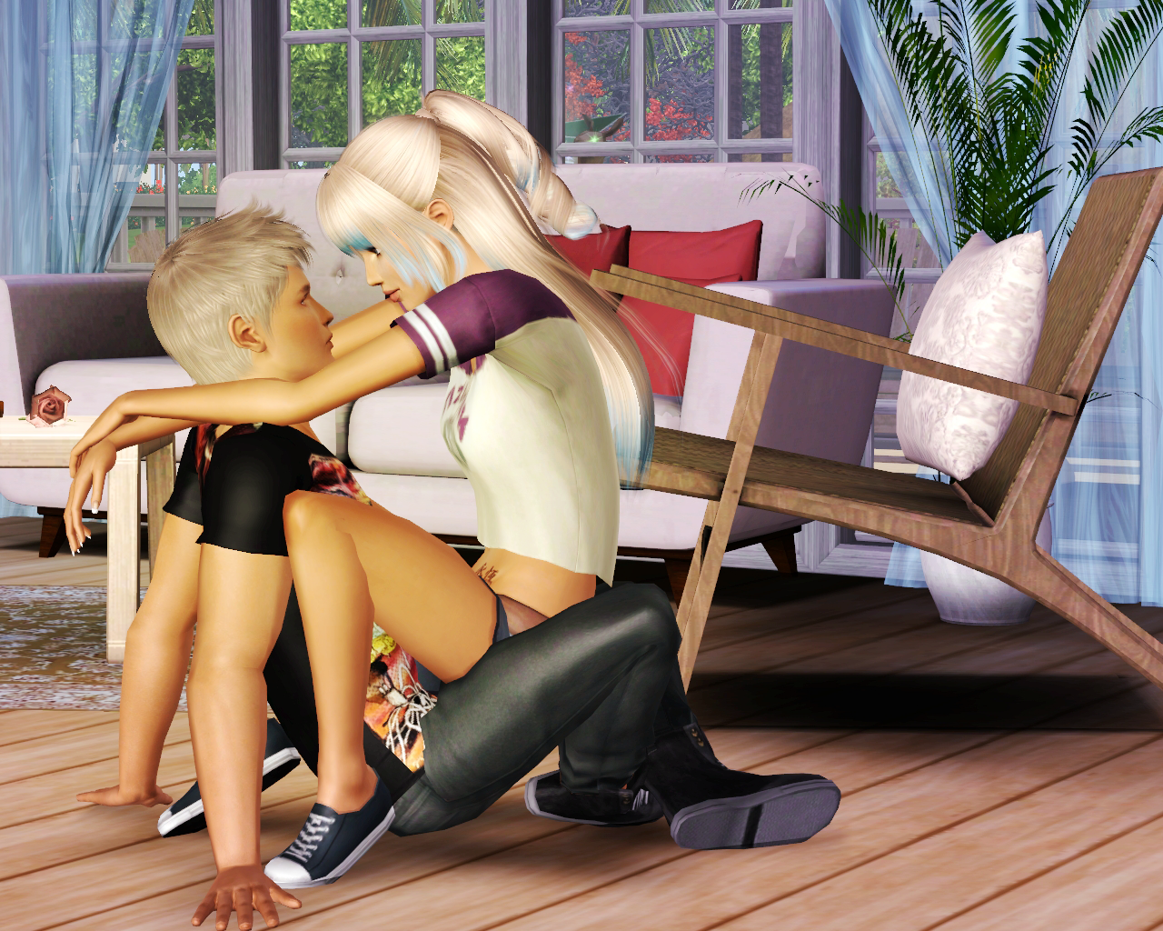 Sims3 lesbian poses smut picture