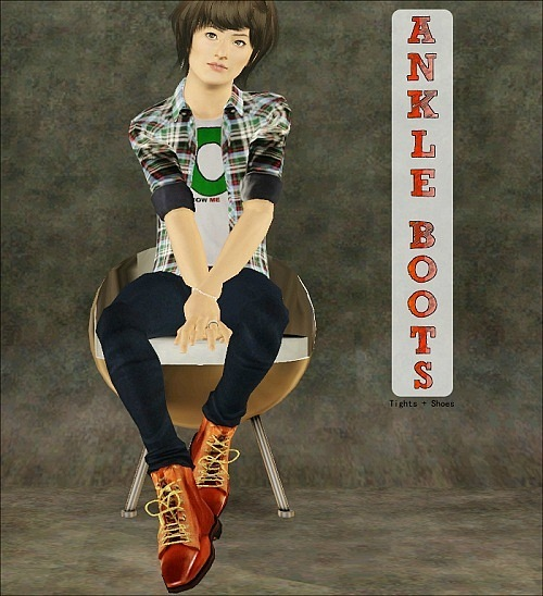 Ankle Boots (Tights + Shoes) by Jasumi