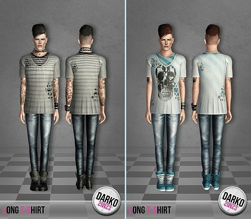 Long Shirt for Adult Males by Darko