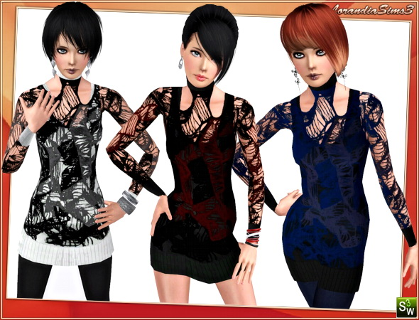 Layered Designer Outfit for Adult Females by Lore
