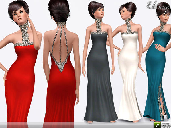Jewel Neck Dress by Ekinege
