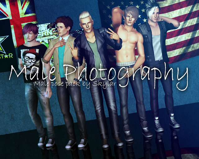 Male Photography Pose Pack ~ With List (S) by Skylar