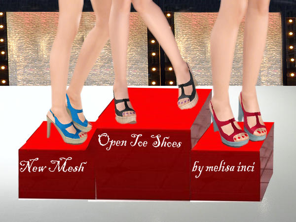 Open Toe Shoes by melisa inci