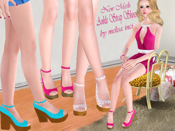 Women Ankle Strap Shoes by melisa inci