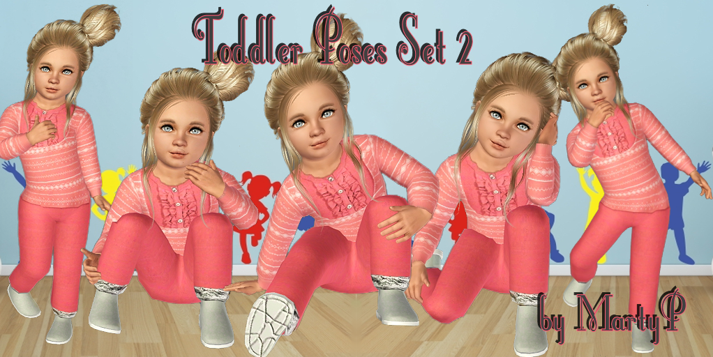 Toddler Poses Set 2