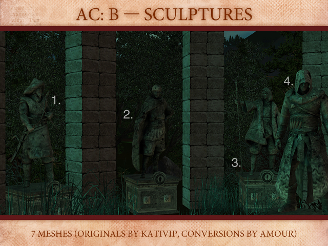 Kativips Assassins Creed: Brotherhood Sculptures by Amour