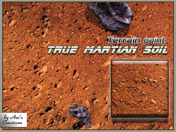 True Martian soil - terrain paint by AniFlowersCreations