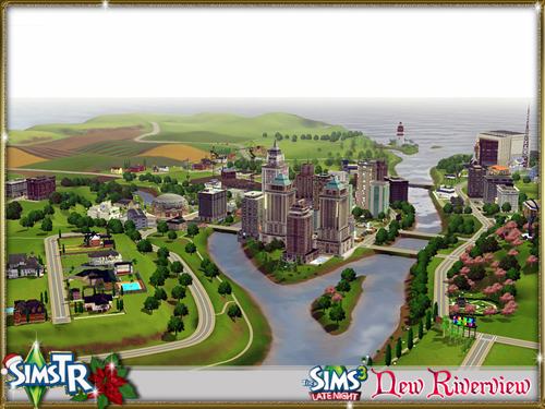 Город New Riverview от SimsTR