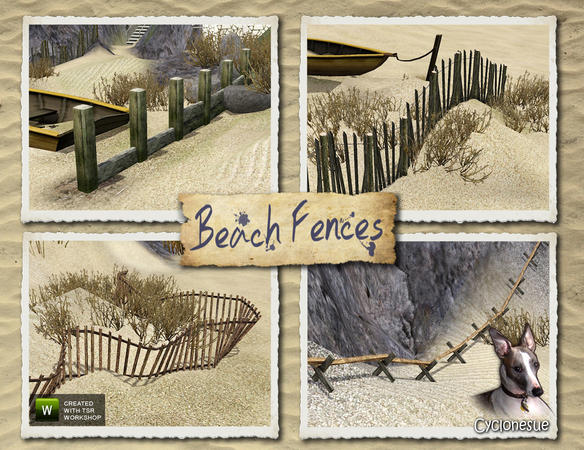 Beach Fences by Cyclonesue