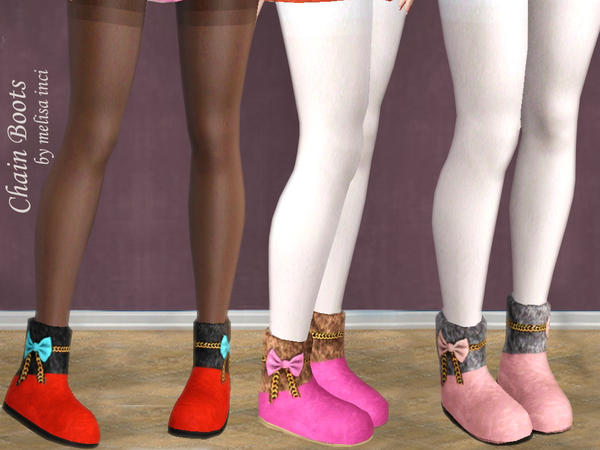 Chain Winter Boots by melisa inci