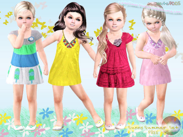 Toddler Sunny Summer Set by natef005