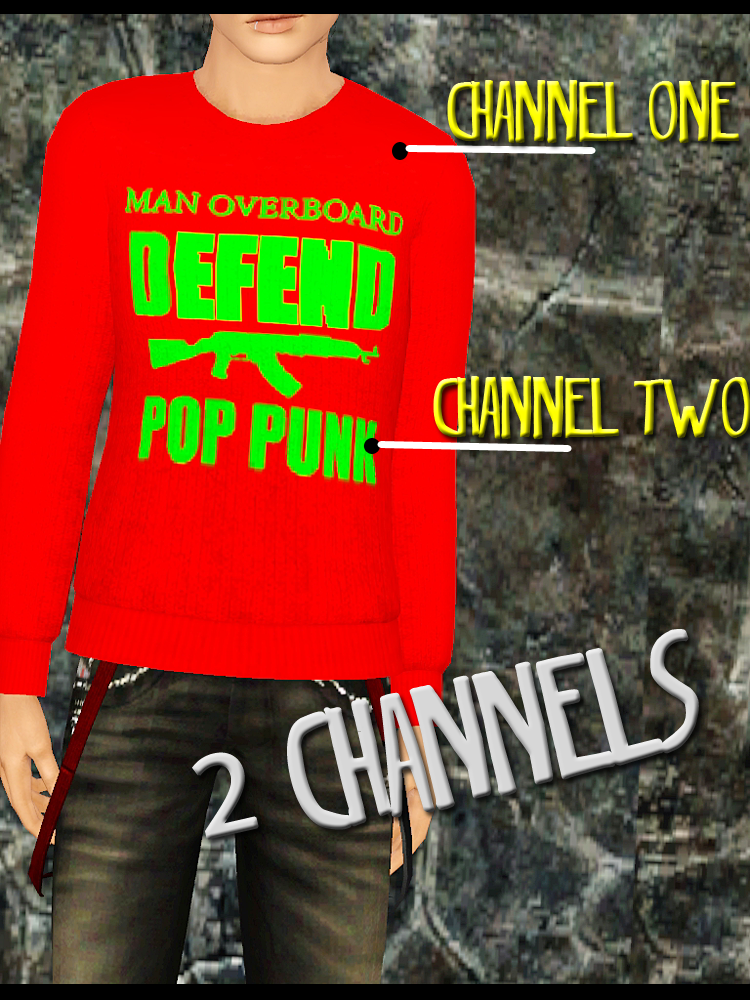Deffnd Pop Punk Male Sweatshirts by Simming With Sirens