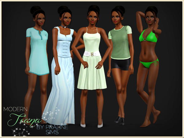 Modern Tiana - The Princess And The Frog by by Pralinesims
