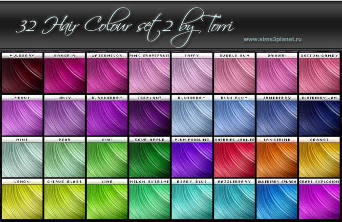 32 Hair Colour. set2 by Torri