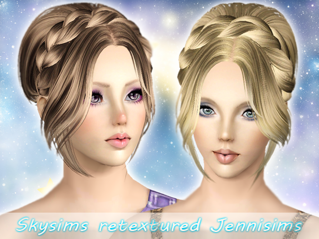 SkySims Hair 116 retextured by Jenni