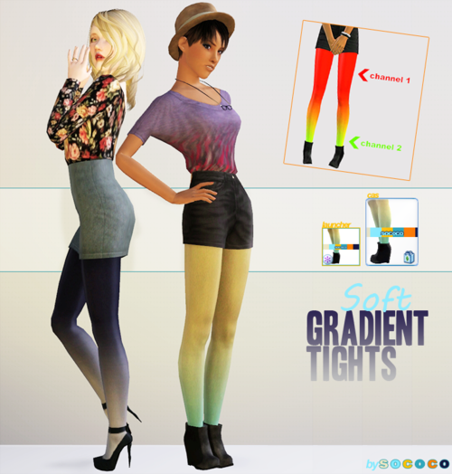 Gradient Tights by Sococo