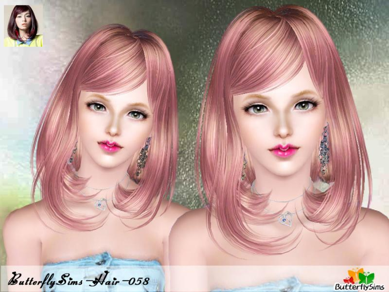 Hair 58 for Females by Butterflysims
