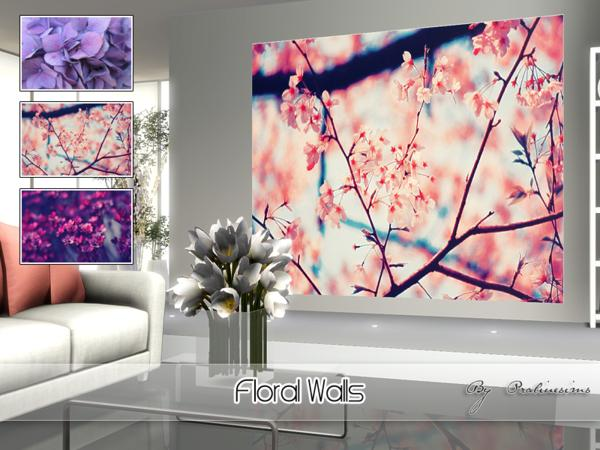 Floral Walls by Pralinesims
