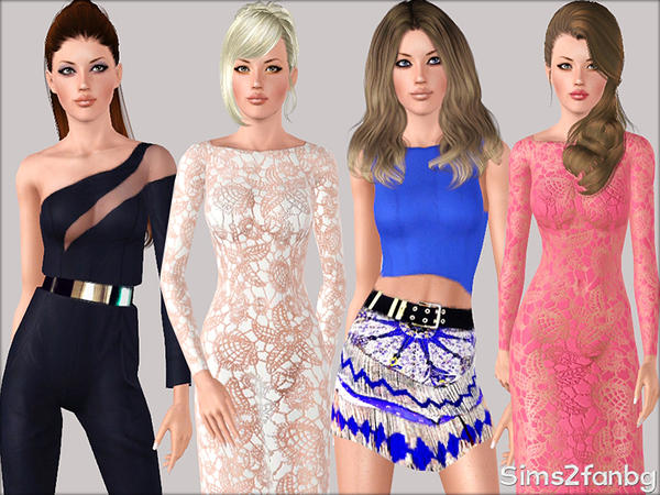 328 - Summer set by sims2fanbg