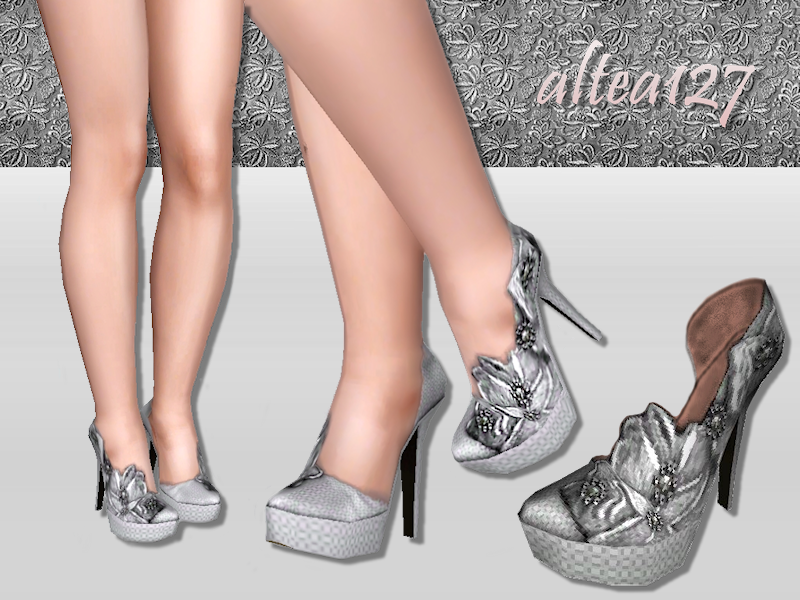 Shoes with flower lace by Altea127