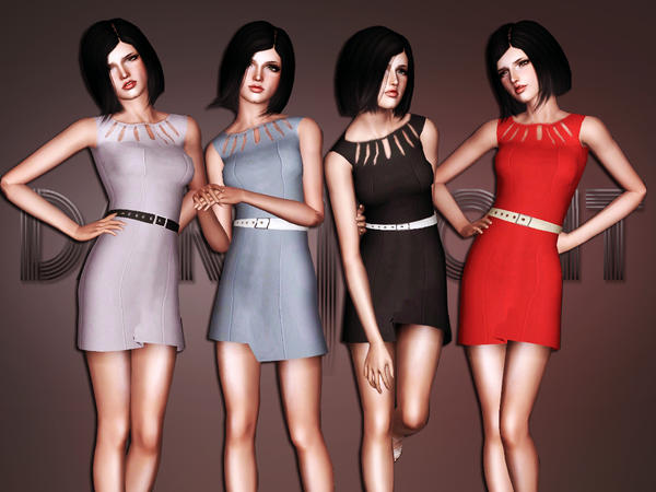 Belted Designer Sheath Dress by DarkNighTt