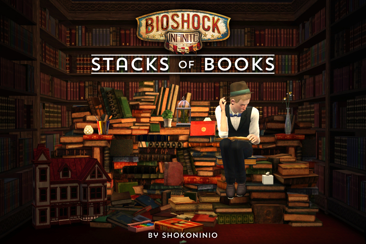 Bioshock Infinite - Stacks of Books by Shokoninio