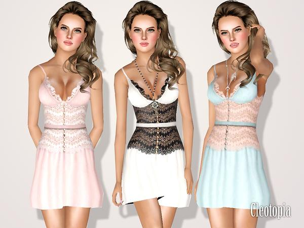 Lace Corset Bra Dress by Cleotopia