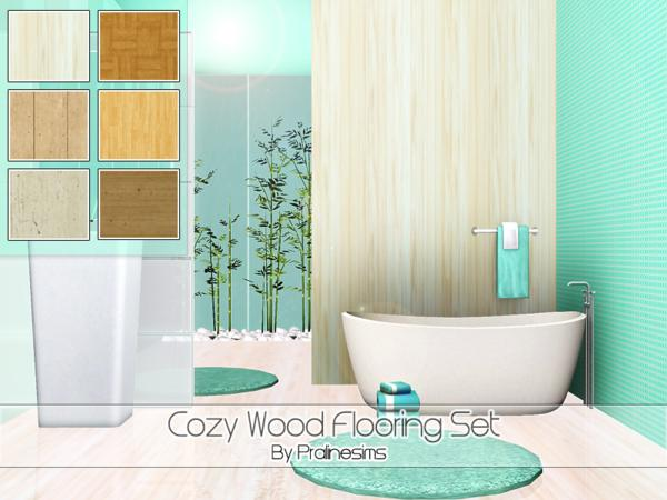 Cozy Wood Flooring Set by Pralinesims