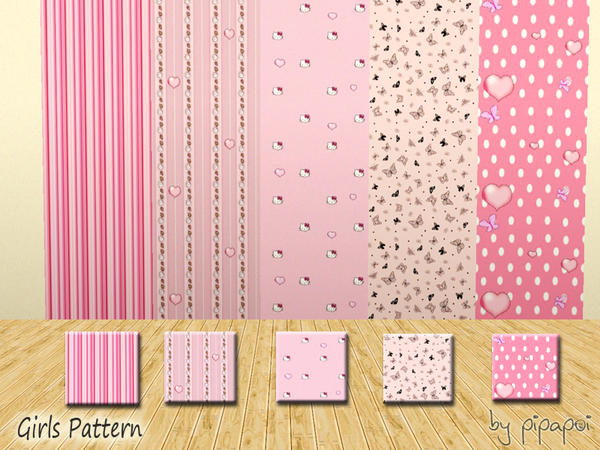 Its a Girl pattern set by pipapoi